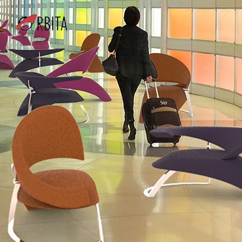 Orbita, seduta per aeroporti, lounge, Tonon