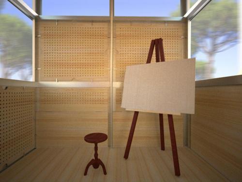 artspace-studio-modulo-abitativo-per-artisti-sostenibile-interno-pittura