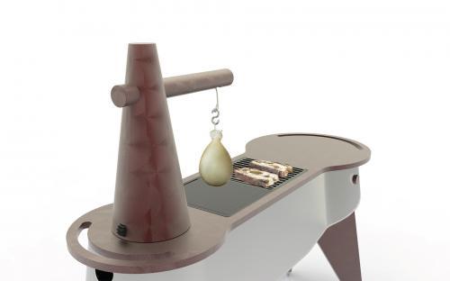 carrello-per ristoranti- caiocavallo-impiccato-vista caciocavallo